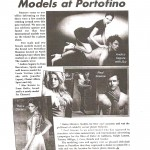 Models at Portofino